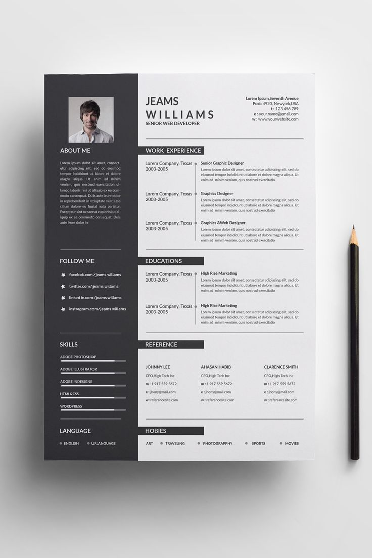 Jeams Cleans Resume Template Cleans Jeams Template Resume