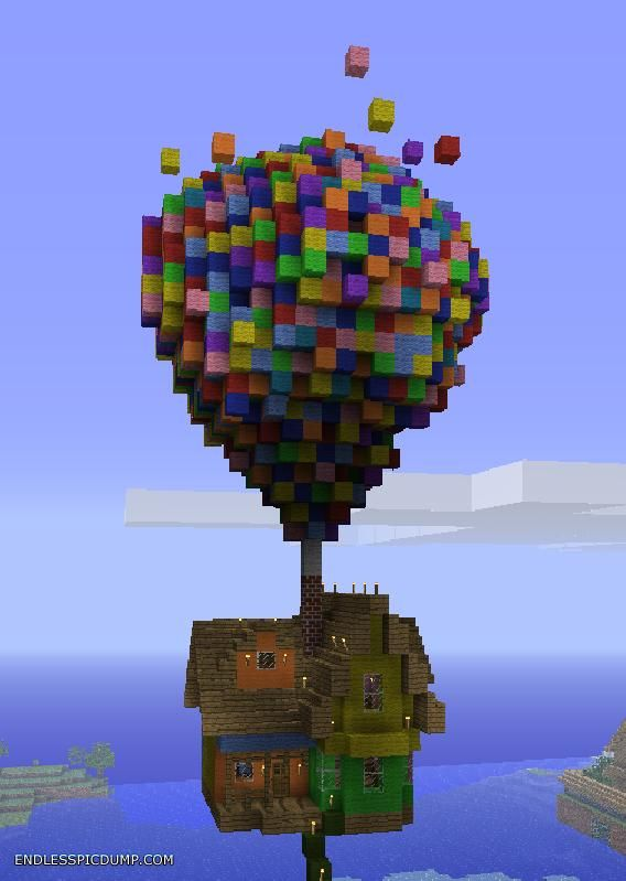 One Of The Coolest Minecraft Builds I Have Ever Seen This House Inspired By Film Up Is There With Best