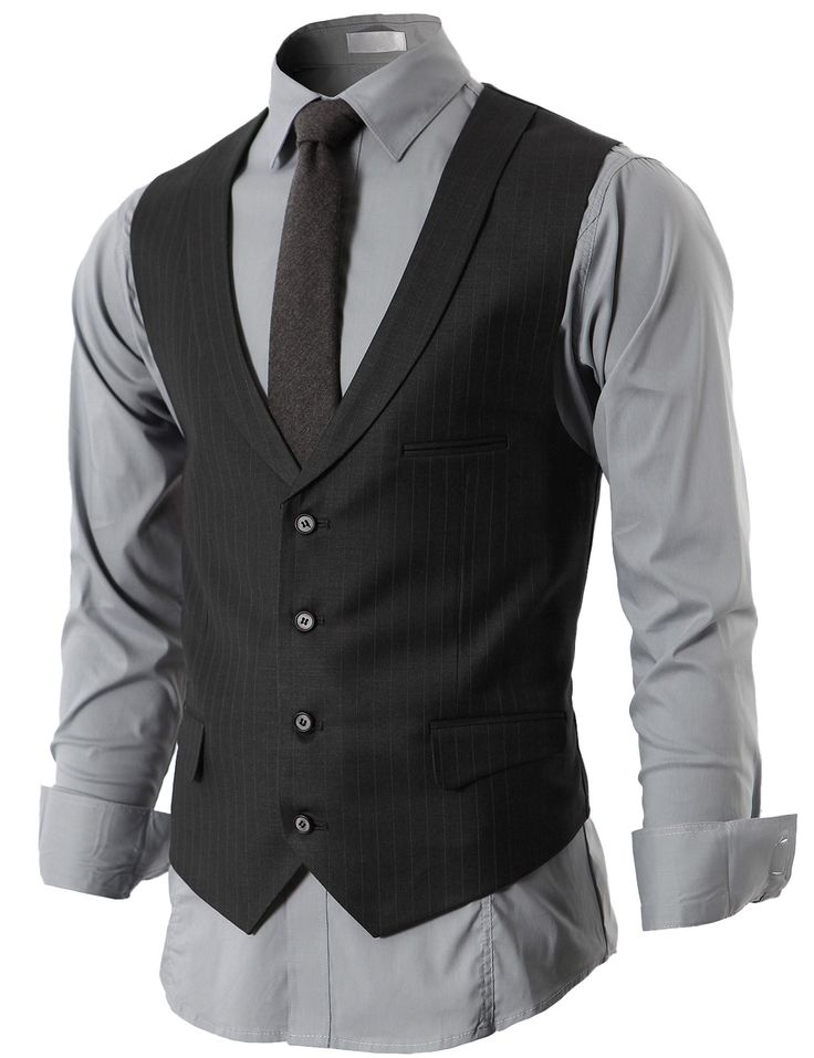 Mens Modern Suit Vest 4 Button Closer With Shawl Collar (KMOV05) #doublju
