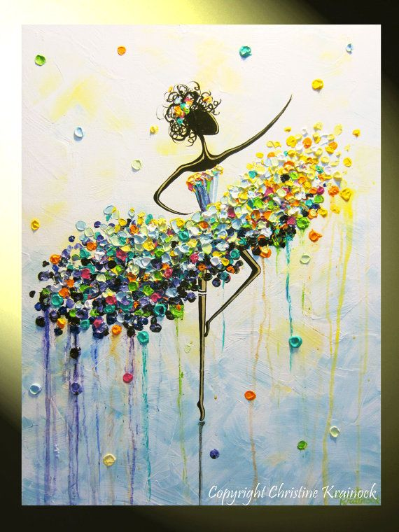 Original Art Abstract Dancer Painting Quot Dance Like