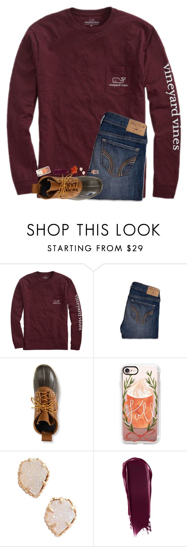 """Finally cold enough to wear my bean boots!!!❤️"" by hgw8503 ❤ liked on Polyvore featuring Vineyard Vines, Hollister Co., L.L.Bean, Casetify, Kendra Scott, NARS Cosmetics and Sally Hansen"