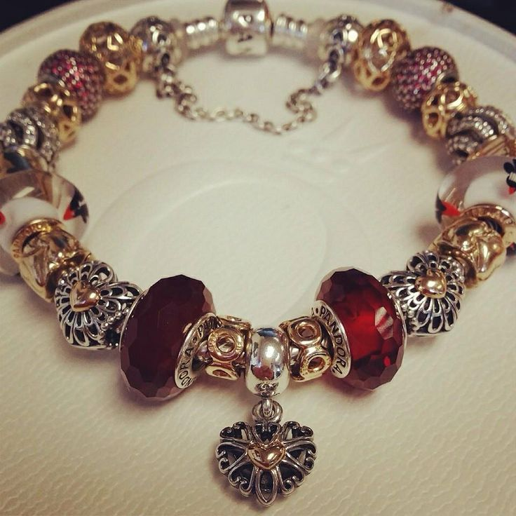 heart lithuanian gold jewellery red tiny memory glossy design bracelet cookie treat