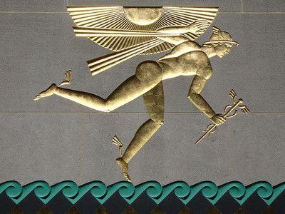 Hermes relief, Rockefeller Center, New York