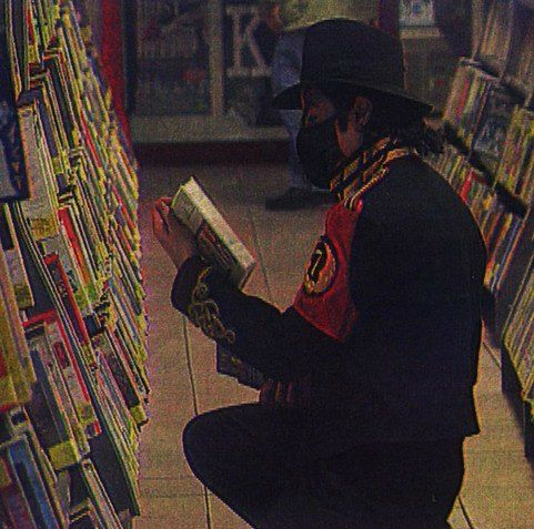 Image detail for -Michael Jackson reading in library (rare)♥ - Michael Jackson Photo ...