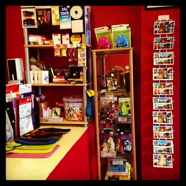Brand new #stationery corner. Staples, cellotape, pens, pencils etc.