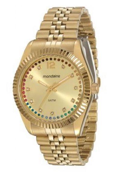 94789LPMVDS1 Relógio Feminino Dourado Mondaine