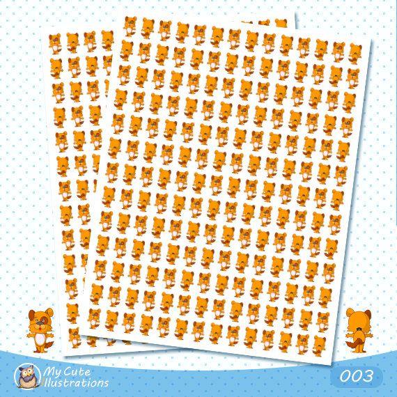 Dog stickers, Cute Animal Stickers, Puppy Dog Planner Sticker Set, Pet Sticker, Animal Sticker, Pet Planner Sticker