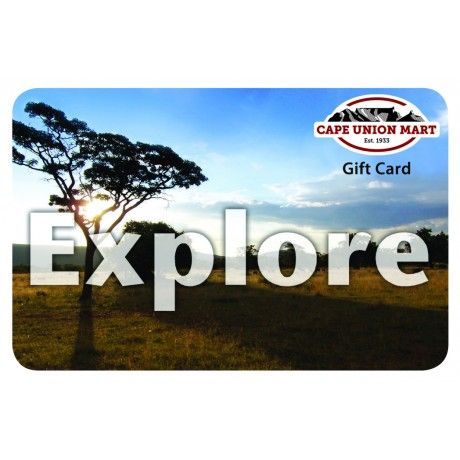 This R100 gift card can be redeemed in any Cape Union Mart store across South Africa. A fantastic gift for any occasion, and an absolute treat for the avid outdoorsman. Buy it online and get delivery anywhere in SA.