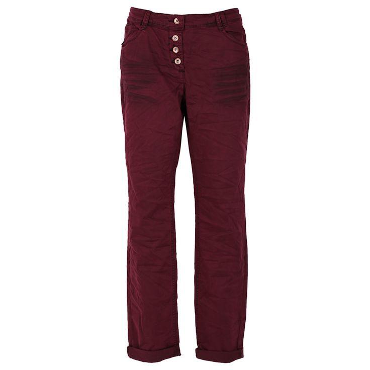 Cecil Stretch Damen Hose / Form: New York / Farbe: dunkelrot - FarbNr. 10646 / im Cecil Jeans Online Shop