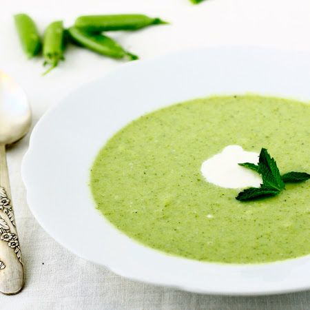 Snap Pea Soup with Mint and Lemon: Not Your Grandma's Pea Soup   Pinned by CamerinRoss.com