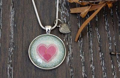 Teesh Pink Heart Pendant