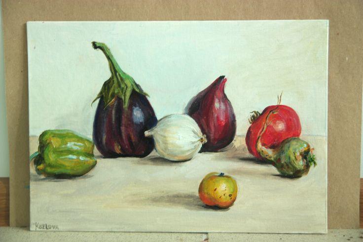 #stil life#vegitables#colorfull#art#paint#painting#oil