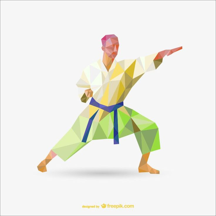 karate judo Sport Templates polygon style template ai eps freebie