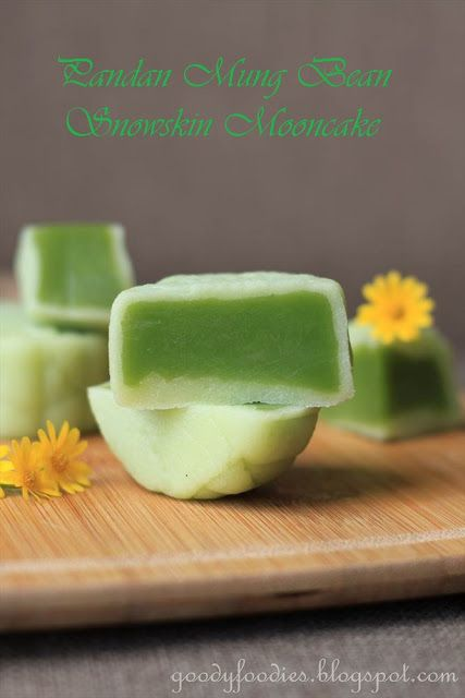 Eat Your Heart Out: Recipe: Homemade Snowskin Mooncakes with Pandan Mung Bean Paste