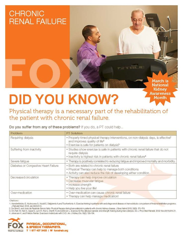 Physical therapy is a necessary part of rehab in chronic