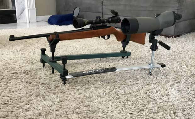 DIY Shooting (gun) Rest With Spotting Scope
