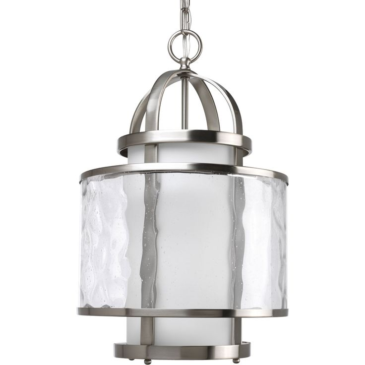 Progress Lighting Thomasville Bay Court Pendant in Brushed Nickel  sc 1 st  Pinterest & 63 best Style By Space: Entryway images on Pinterest | Entryway ... azcodes.com
