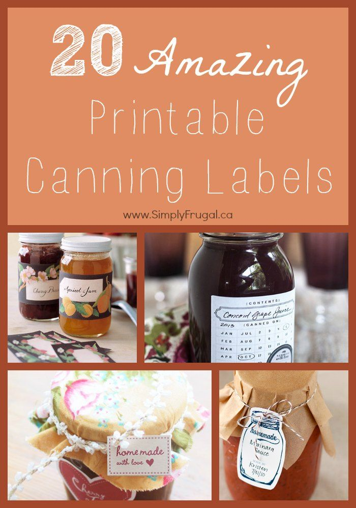 20 Amazing Printable Canning Labels