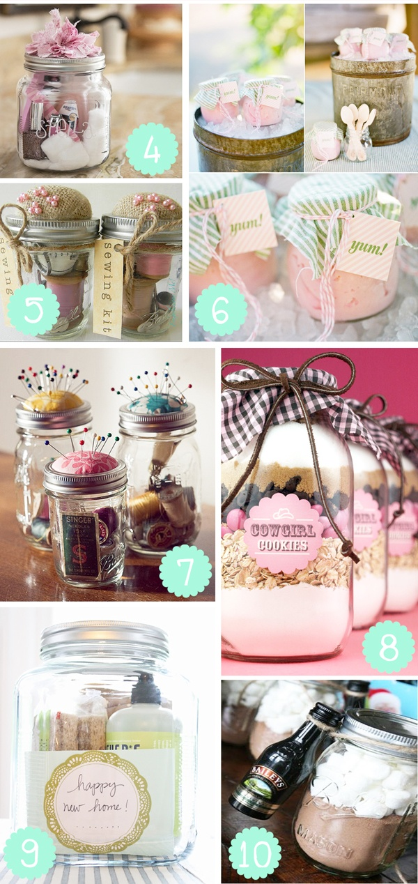 Mason Jars: Continued, mason jar gift ideas