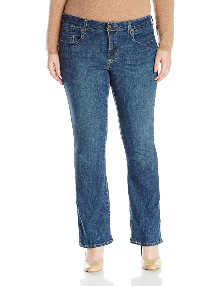 Signature by Levi Strauss & Co Women's Plus-Size Modern Bootcut Jeans, Stormy Sky, 22 Short