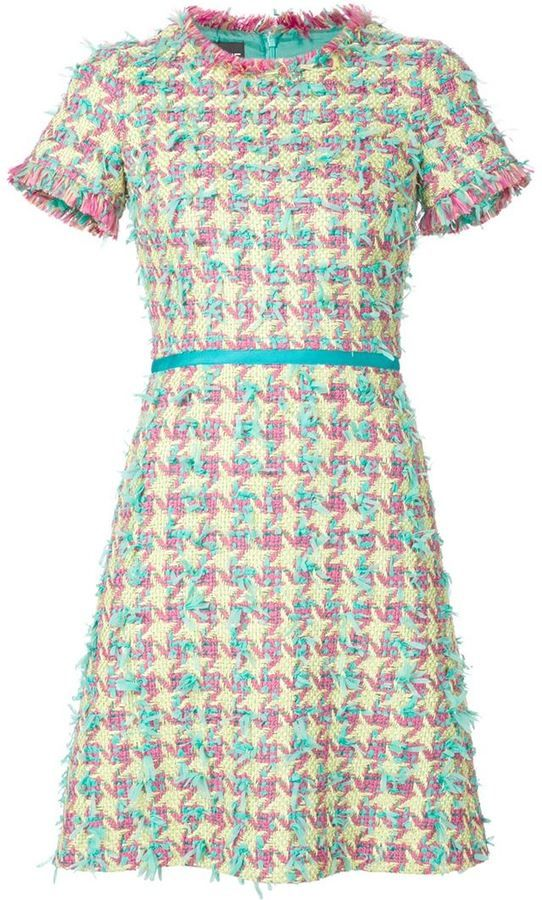 Boutique Moschino shortsleeved tweed dress