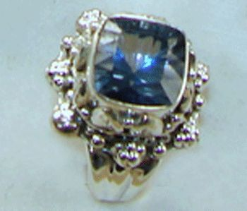 Blue Mystic Topaz Sterling Silver Ring
