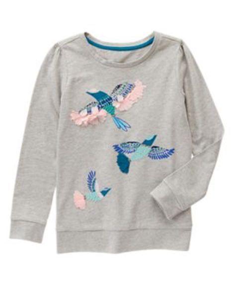 NWT Gymboree Butterfly Garden Gray Bird Shirt SZ  6,10 Girls | eBay