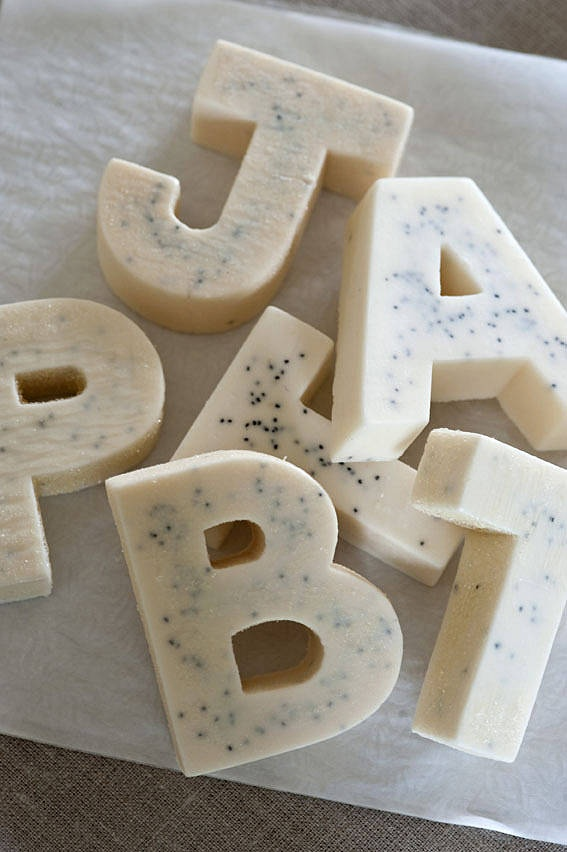 ♥ Personalised Letter Soaps