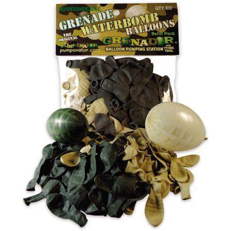 Pumponator 100 Grenade-Style Biodegradable Water Bombs, Multicolor