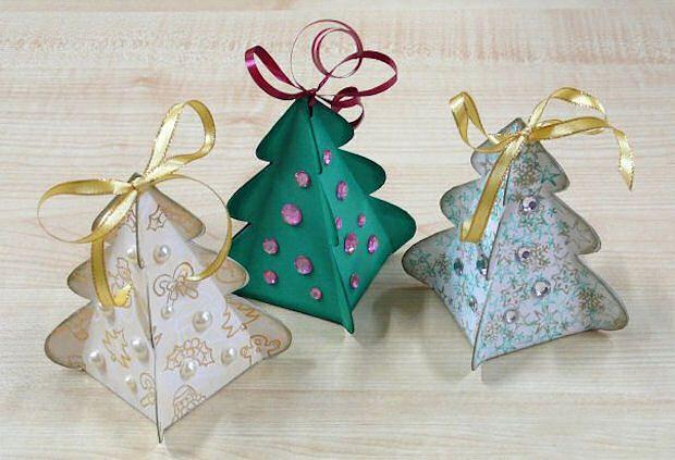 Christmas Tree Box   How to Make Crafts