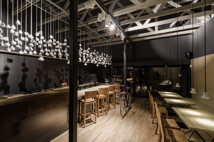 How I would try, but likely complicate the design of a coffee shop...it's like espresso manifested...Origo Coffee Shop / Lama Arhitectura