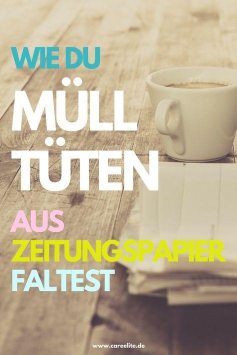 Plastikfreie Mülltüten aus Zeitungspapier falten – Nadine Köhler