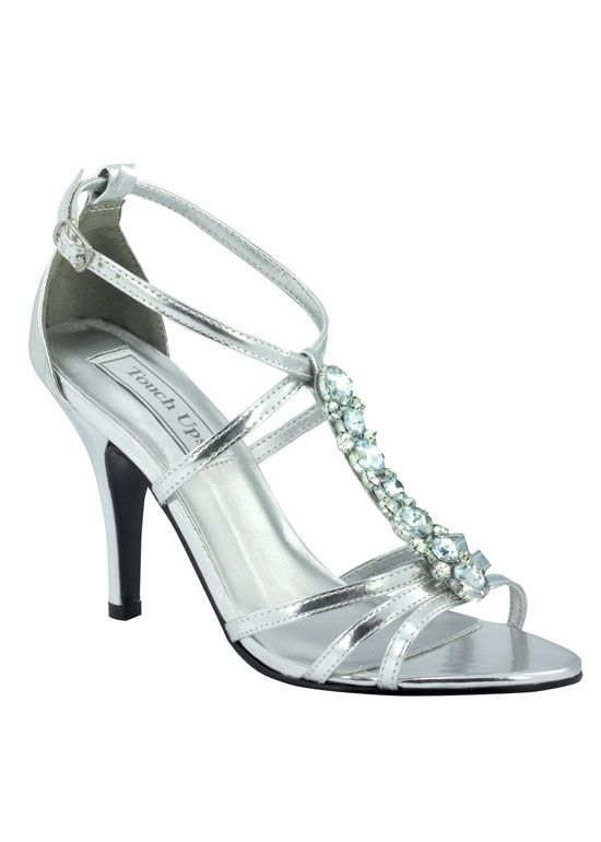 Touch Ups Vanessa - Silver Jeweled Prom Dress Shoes Online