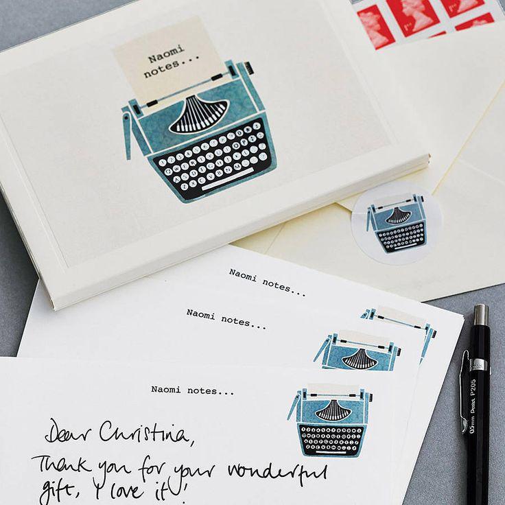 Personalised Typewriter Writing Set by madebyellis.com