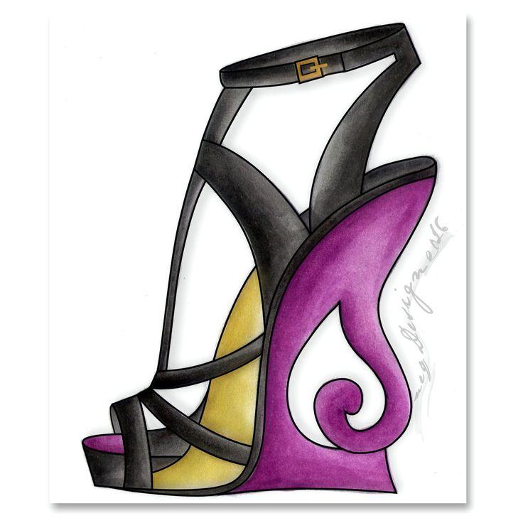 my design / women shoes design / shoe sketches / art shoes / wedges / women fashion footwear / jasa design desain sepatu. Email : neqdesign@gmail.com