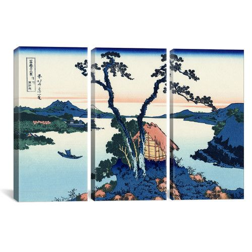 Found it at AllModern - Katsushika Hokusai Lake Suwa in The Shinano Province 3 Piece on Wrapped Canvas Set