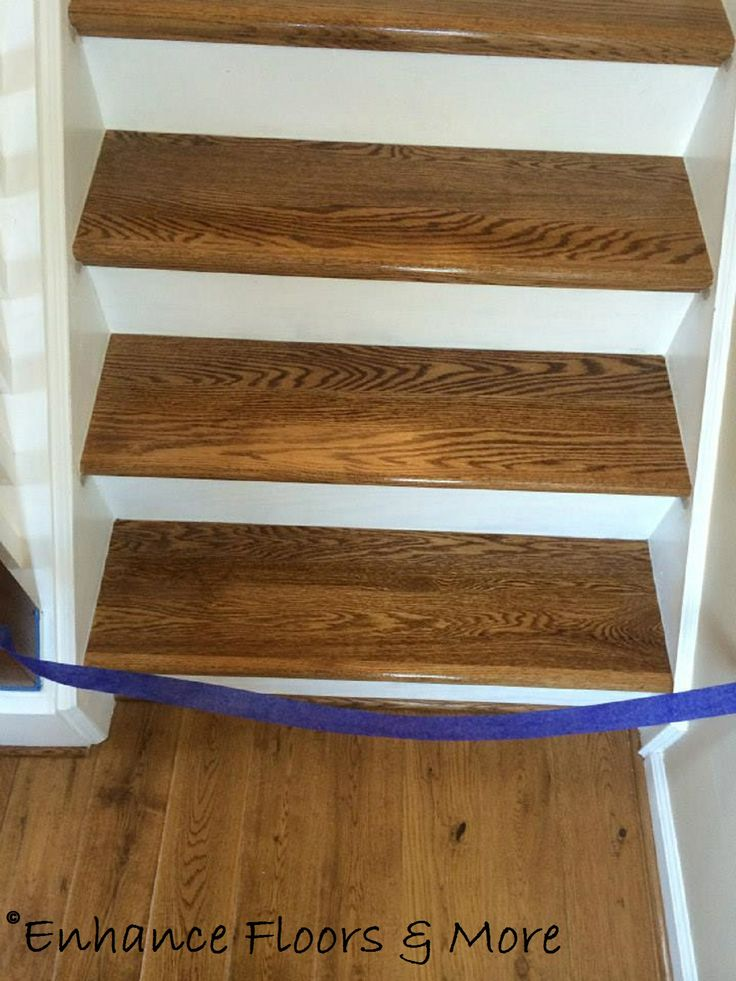 The Floors At The Bottom Of The Stairs Are Prefinished Hardwoods. Look How  Well Our