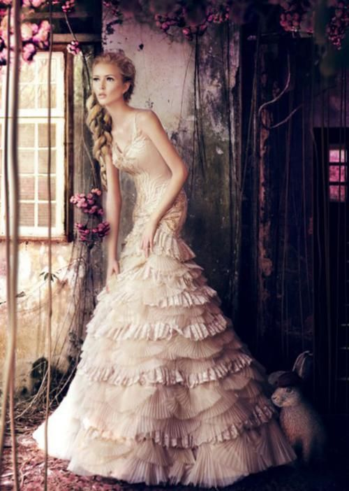 CWedding Dressses, Lace Wedding Dresses, Ads Campaigns, Gowns, The Dresses, Fashion Ads, Ruffles, Dreamy Wedding, Fairies Tales