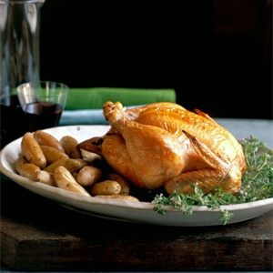 Foolproof Roast Chicken from Sally Schneider via The Splendid Table: Perfect Roasted, Roasted Chicken Splendid, Roast Chicken, Food Therapy, Meat Recipes, Sally Schneider, Recipes Meat, Chicken Splendid Tables, Foolproof Roasted