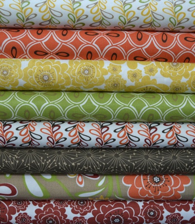 Tilly: love yellow, orange and green prints. Just enough busyness.