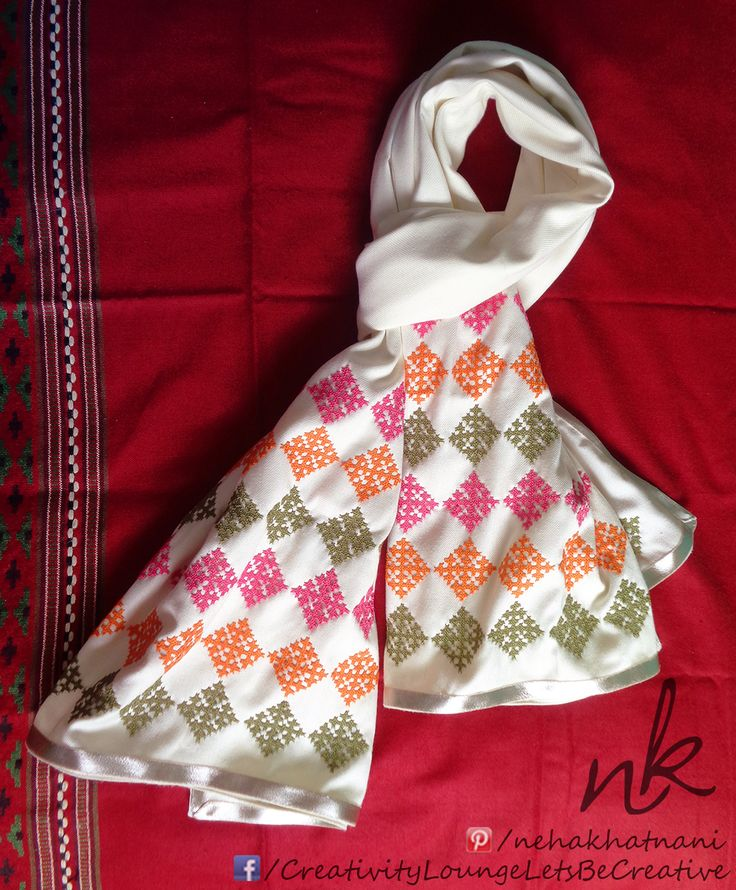 Kutch work Shawl for Winters by ME :)  #Kutch #Work #Embriodery