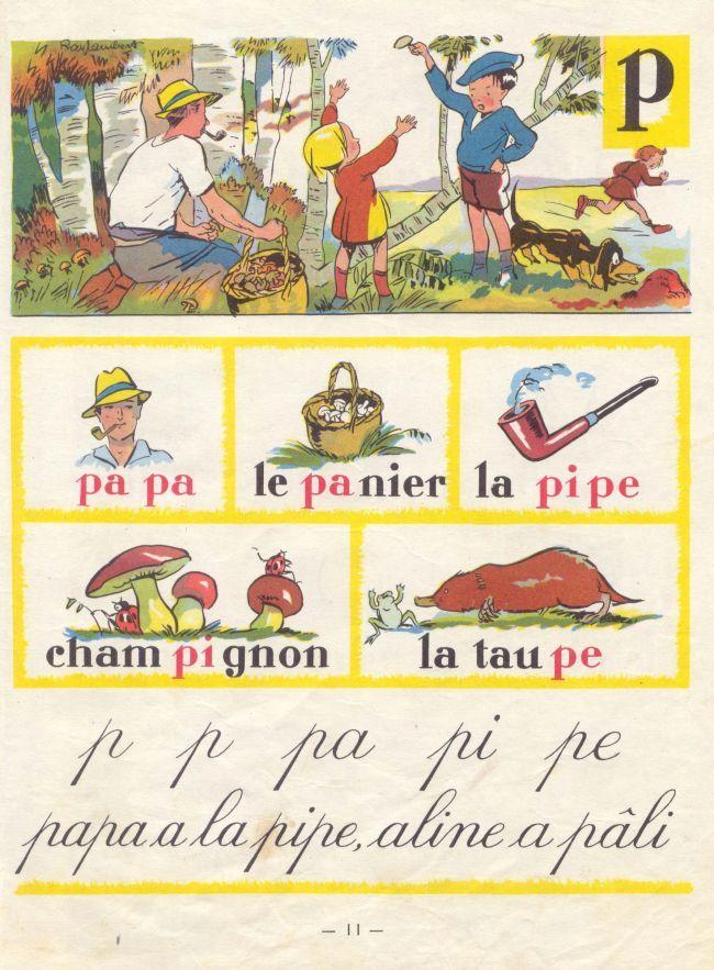 pa pa pipe pi pe, french children worksheet