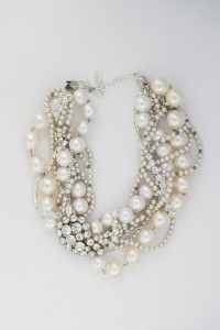 Vackert: Pearls Necklaces, Statement Necklaces, Style, Pearl Necklaces, Pearls Diamonds, Wedding Necklaces, Jewelry, Diamonds Necklaces, Chunky Necklaces