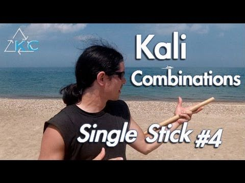 KALI STICK DRILLS, Combinations #4. Filipino martial arts