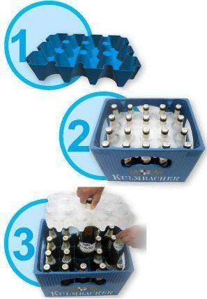 SL-Eisblock - Bierkühler Getränkekühler für 0, 33 Liter Flaschen der sl-EISBLOCK Bierkastenkühler ist MADE IN GERMANY: Amazon.de: Küche & Ha...