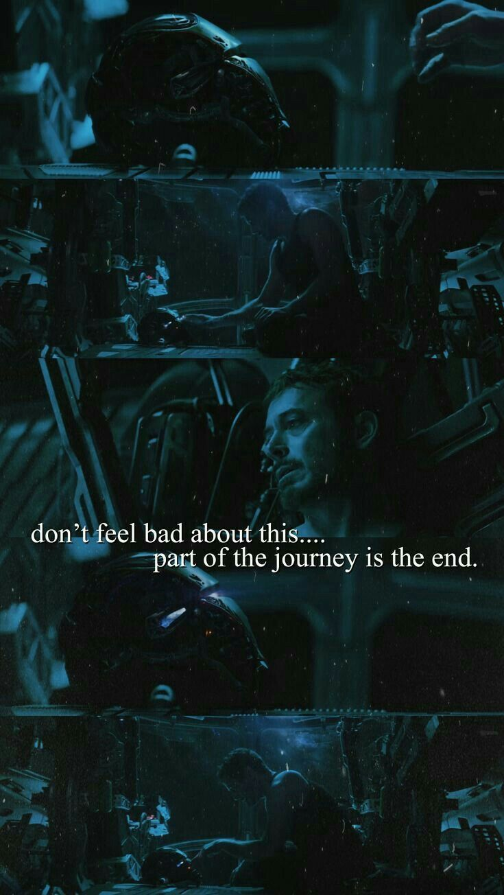 Part Of The Journey Is The End Tony Stark Marvel Dc Movies