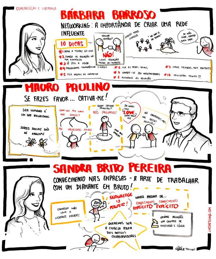 """Bárbara Barroso - """"Networking: A importância de criar uma rede influente""""; Mauro Paulino- """"Se fazes favor... cativa-me!""""; Sandra Brito Pereira - """"""""Conhecimento nas empresas - a arte de trabalhar com um diamante em bruto!"""""""