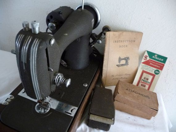 Vintage Art Deco Sewing Machine National by The1957RetroStore, $170.00
