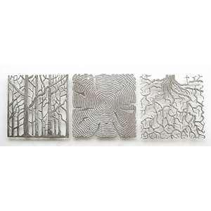 Gray metal wall decor