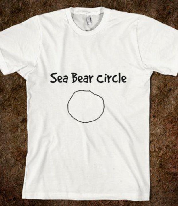 Sea Bear Circle-Unisex White T-Shirt